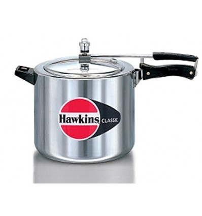 Hawkins D11 10-Liter Classic New Improved Aluminum Pressure Cooker with Separator, Small, Silver
