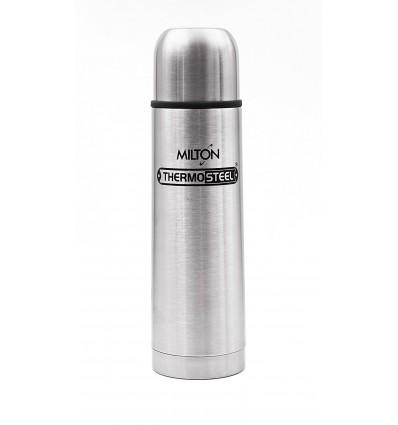 Milton Thermosteel Flip Lid Flask, 1000 ML 1 Liter, Silver
