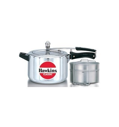 Hawkins Classic Pressure Cooker 5 Litre CL51 With Two Separators