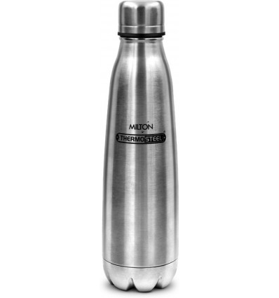 Milton Apex 500 Thermosteel Hot & Cold Water Bottle, 500 ml, Silver