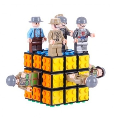 3x3 Block Magic Cube - Black + 8 Styles Military Theme Series Doll Building Blocks