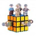 3x3 Block Magic Cube - Black + 8 Styles Military Theme Series Doll Building Blocks
