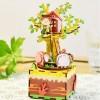 Tree House Theme Shape 3D Puzzle Building Blocks DIY Music Box Stem Toys for Home Decor