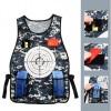 Versicolorous Tactics Shooting Vest for Outdoor Wallet Bullet Transmitter CS Battle - Black