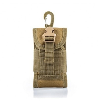 Molle Outdoor Multi-function Waterproof Phone Bag Nylon Accessory Kit for CS Wargame - Khaki