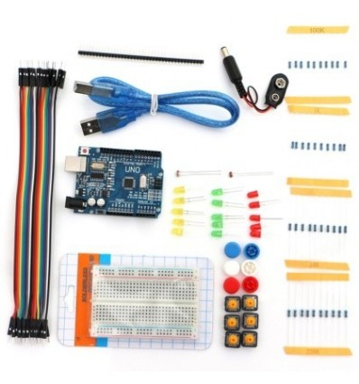 UNO R3 Breadboard LED Bread Line Resistor Kit for Basic Arduino Starter