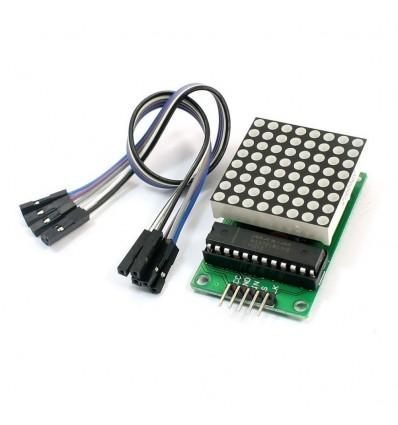 MAX7219 Dot Matrix Module Display Module with Dupont Line Kit for Arduino