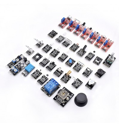37 In 1 Sensor Module Set Transparent Box Package Board Kit with CD Tutorial for Arduino