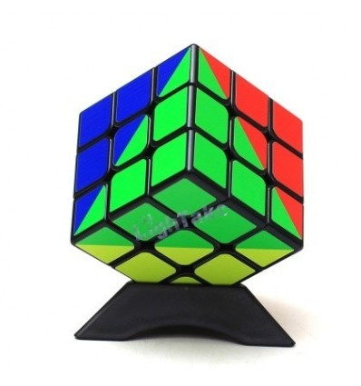 Z-cube Rainbow Type 3x3x3 Cube - Black