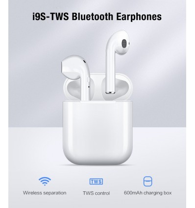 TOP Quality Mini i9s TWS Bluetooth Headsets Earbuds Wireless Earphones Earpiece i7s tws For Original iphone Android Phone
