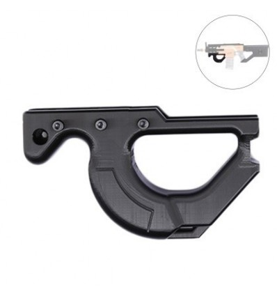 XSW 3D Printing Modified Front Grip for Nerf Styfe - Black