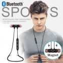 Black 5.0 Bluetooth Earphone Sports Neckband Magnetic Wireless earphones Stereo Earbuds Music Metal Headphones For All Phones