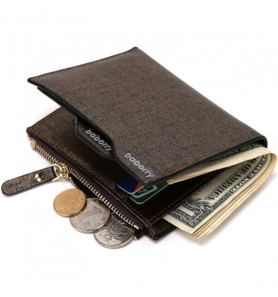 New Fashion Wallets for Men with Coin Pocket Wallet ID Card Holder Purse Clutch with Zipper Men Wallet with Coin Bag Gift