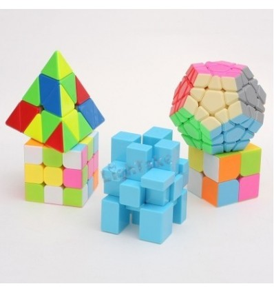 Z-cube 5 in 1 Stickerless Gift Box Speed Cube Colorful