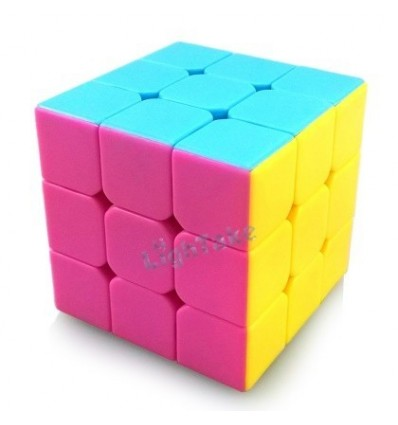 MoYu WeiLong V2 Strengthened Version 3x3x3 Magic Cube 56mm Puzzle Toy Pink