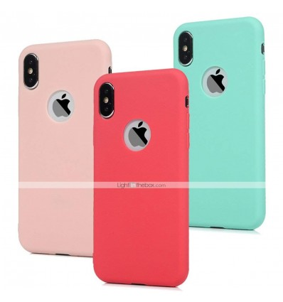 Pink Fashion Soft Silicone Candy Pudding Cover For iPhone X 11 Pro Max 8 7 6 6S Plus Xr Xs Max Case Flexible Gel Protector case