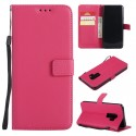 Rose Pink Leather Phone Case Samsung Galaxy A6 A8 Plus J2 J4 J6 J8 2018 J1 J3 J5 J7 2016 A7 A3 A5 Flip Wallet Card Holder Cover