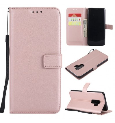 Rose Gold Leather Phone Case Samsung Galaxy A6 A8 Plus J2 J4 J6 J8 2018 J1 J3 J5 J7 2016 A7 A3 A5 Flip Wallet Card Holder Cover