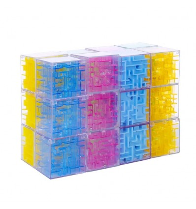 24Pcs 8 Styles 3D Maze Magic Cube Labyrinth Ball Gift Kid Rolling Balance Puzzle Game Decompression Toys