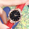 Red Women Casual Leather Ladies Watch Quartz Wrist Watch Starry Sky Female Clock reloj mujer relogio feminino