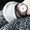 Grey Zegarek Damski Fashion Simple Women Watches Ladies Casual Leather Quartz Watch Female Clock Relogio Feminino Montre Femme
