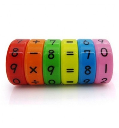 Plastic Magnetic Math Number Learner Kids Early Educational Toy Arithmetic Calculation Learning Device - Colorful