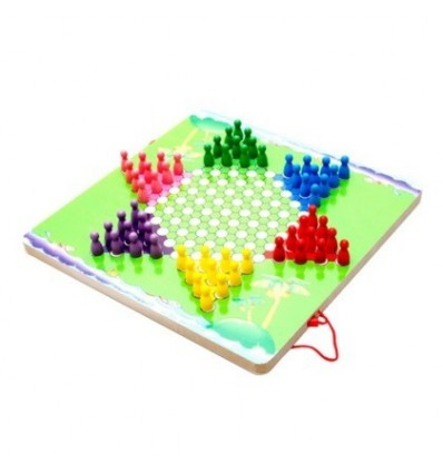Aunnular Shape Chinese Checkers and Labyrinth Board Game Two-in-One Magnetic Guiding Pen Board Maze Labyrinth Puzzle Toy - Rando