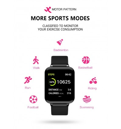 White B57 With Box Smart watches Waterproof Sports for iphone Heart Rate Monitor Blood Pressure Functions For Women men kid