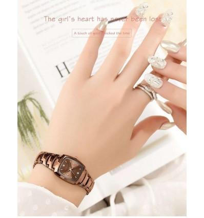 Rose Rose 2019 Fashion Rectangle Dial Quartz Watch Luxury Rose Gold Bracelet Clock Ladies Steel Belt Waterproof Wristwatches