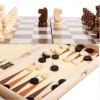 30 x 30cm 2 In 1 Wooden Folding Chess Set Chess Backgammon Set Entertainment Chessboard Games