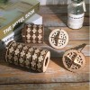 Wooden Da Vinci Code Number Password Cylinder Lock Assembly Educational Toys - S