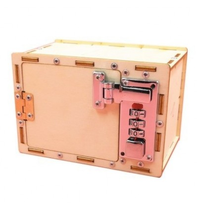 DIY Mechanical Code Box Assembly Lockbox Educational Toys with Video