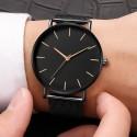 Black Silver Luxury Watch Men Mesh Ultra-thin Stainless Steel Quartz Wrist Watch Male Clock reloj hombre relogio masculino