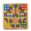2-in-1 Wooden Family Children Board Game Flying Chess Aeroplane Chess Snakes&Ladders Parent-child Interaction Game