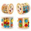 Kids Wooden Cartoon Animal Pattern Shapes Cognition Intelligence Box Baby Educational Shape Matching Blocks Puzzle Toy