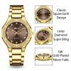 2742GSBR MISSFOX Elegant Woman Watch Luxury Brand Wristwatch Japan Movt 30M Waterproof Gold Expensive Analog Geneva Quartz Watch