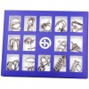 15Pcs Brain Puzzles Intelligence Buckle Lock Toy - Red English Version