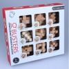 9Pcs Beech Kong Ming Lock Puzzle Luban Lock Set Children Development and Education Toy