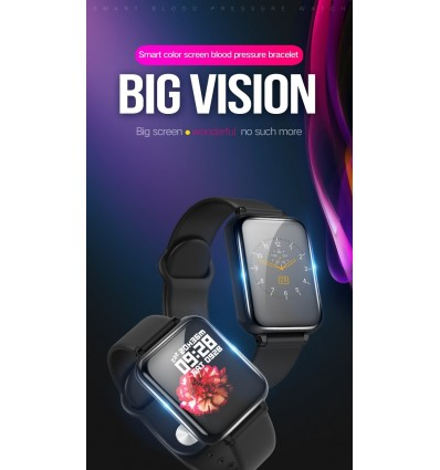 Pink Women Men Smart Electronic Watch Luxury Blood Pressure Digital Watches Fashion Sport Wristwatch DND Mode For Android IOS