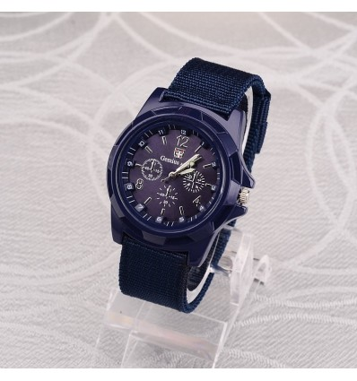 Blue 2019 Men Nylon band Military watch Genius Army watch High Quality Quartz Movement Men sports Casual wristwatches