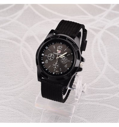 Black 2019 Men Nylon band Military watch Genius Army watch High Quality Quartz Movement Men sports Casual wristwatches