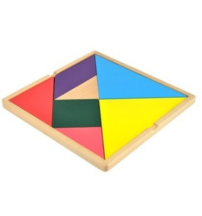 Big Wooden Tangram Educational Toy Seven-piece Puzzle for Children Learning Educational Toys