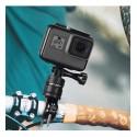 Bicycle Motorcycle Handlebar Aluminum Clamp Holder Tripod Mount for GoPro Hero 8 7 6 5 Yi 4K Sjcam Eken for Go Pro Accessory