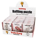 24Pcs Metal Wire Puzzles Brain Teaser Classical Intellectual Toy with Single Box Package - Silver