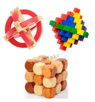 Edicational Traditional Puzzle Games Interlocked Dice Kong Ming Ball Lock for Kids Adult