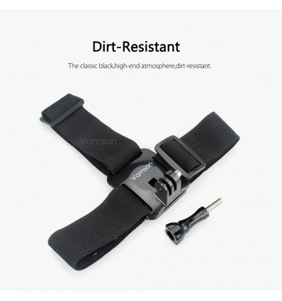 Vamson for Gopro 8 7 6 5 Accessories Head Belt Strap Mount Adjustable For Gopro Hero 6 5 4 3+2 1 for Xiaomi Yi SJCAM VP202