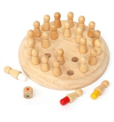Memory Chess Parent-Child Game Wooden Educational Toy for Baby Kids Children