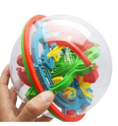100 Steps 3D Maze Magical Intellect Ball Game Puzzle Kids Children Educational Toy