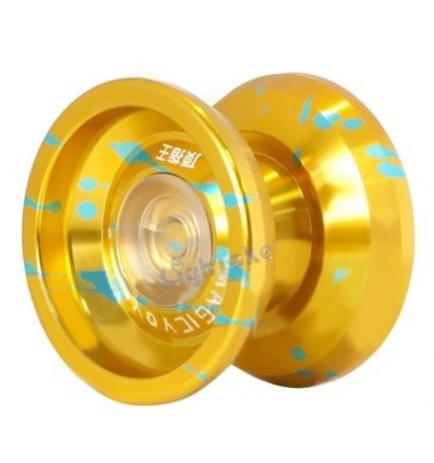 MAGICYOYO K9 The King Aluminum Alloy Professional Yoyo - Golden + Blue