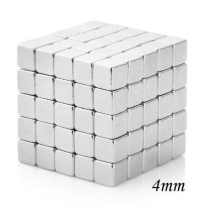 125Pcs 4mm Square Magnets Magic Cube - Silvery